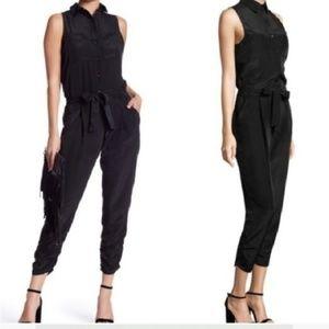 Parker • Black Sleeveless Tie Waist Jess Jumpsuit